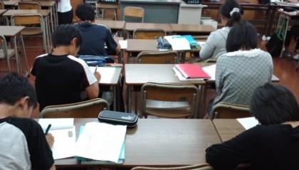 テスト勉強中 in瀬部教室